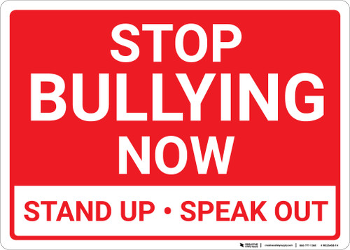 Stop Bullying Now Landscape - Wall Sign