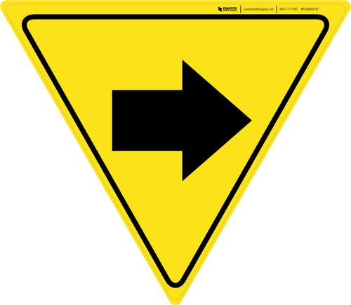 Right Arrow Yield - Floor Sign