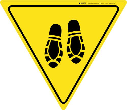 Shoe Print Down Yield - Floor Sign