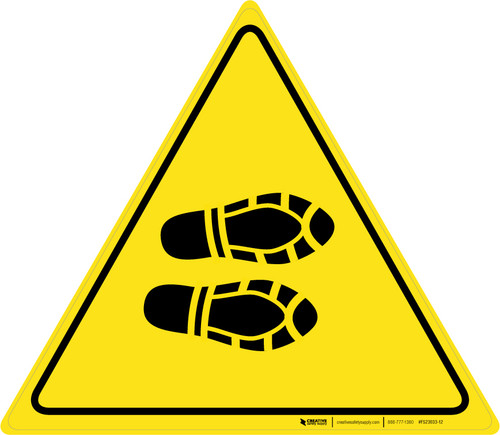 Shoe Print Right Triangle - Floor Sign