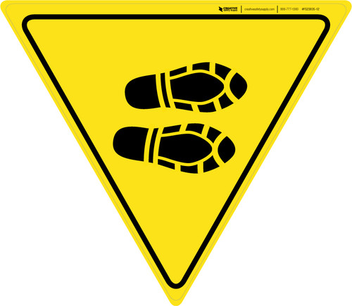 Shoe Print Right Yield - Floor Sign