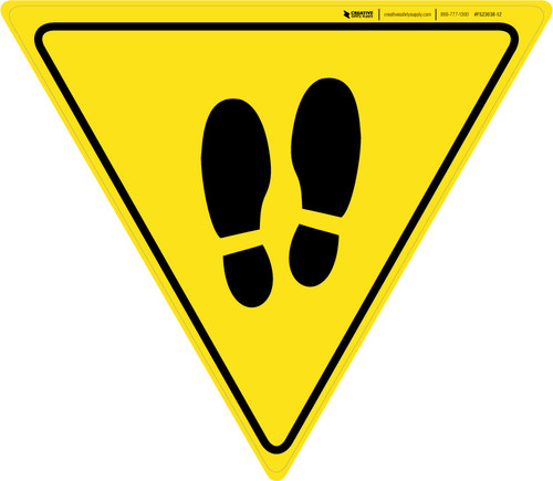 Shoe Print Up Yield v2 - Floor Sign