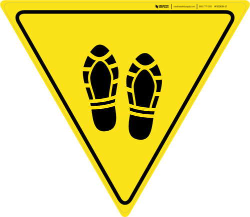 Shoe Print Up Yield - Floor Sign