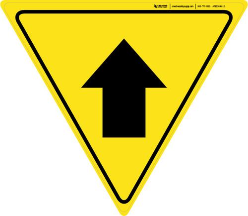 Up Arrow Yield - Floor Sign