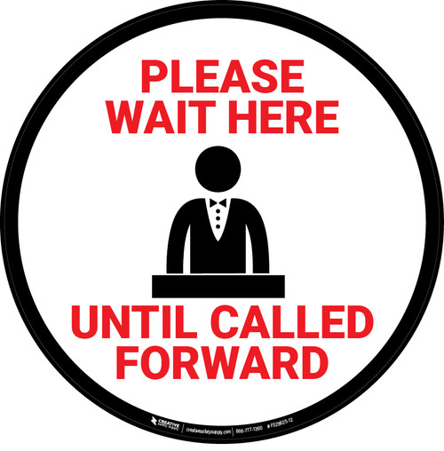 Please Wait Until Called Forward with Casino Cashier Icon - Floor Sign