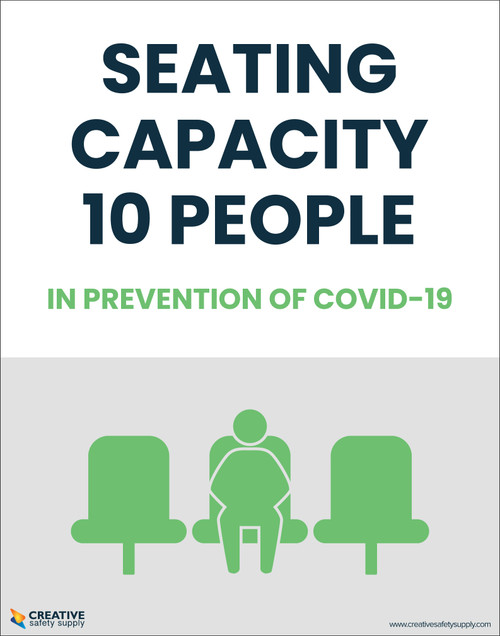 Seating Capacity 10 People In Prevention of Covid-19 - Poster