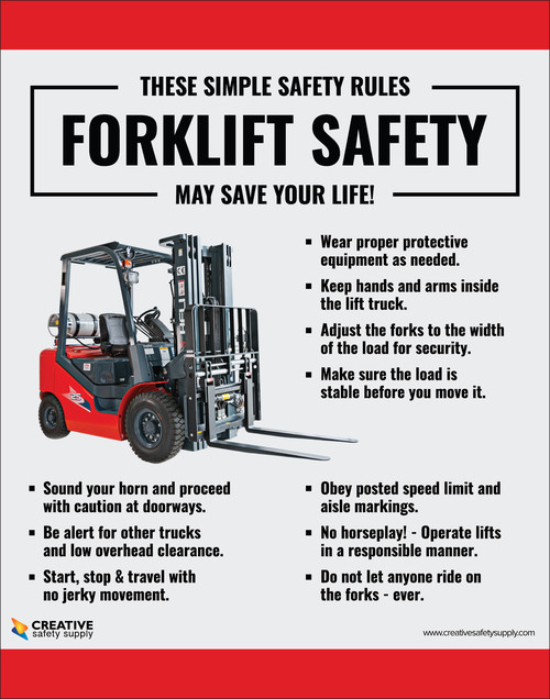 Simple Safety Rules Forklift Safety - Poster