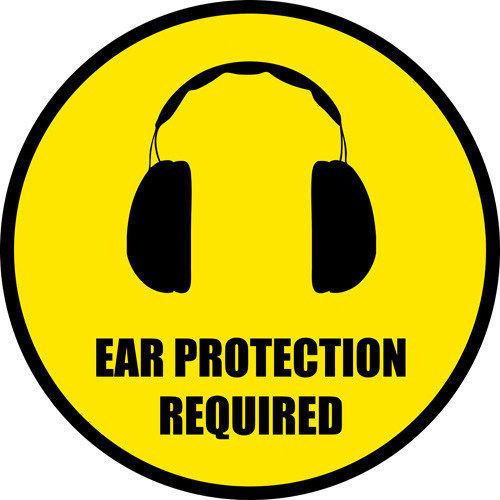 Ear Protection Floor Sign Can be Customized