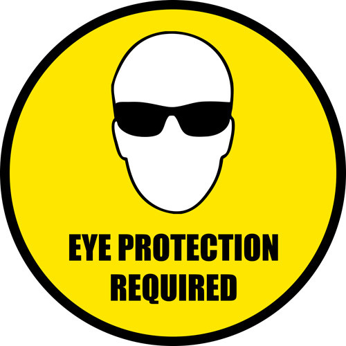 Eye Protection Floor Signs and PPE