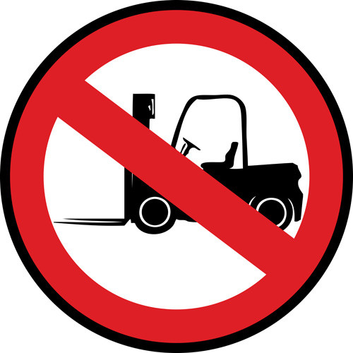 No Forklifts Custom Floor Sign