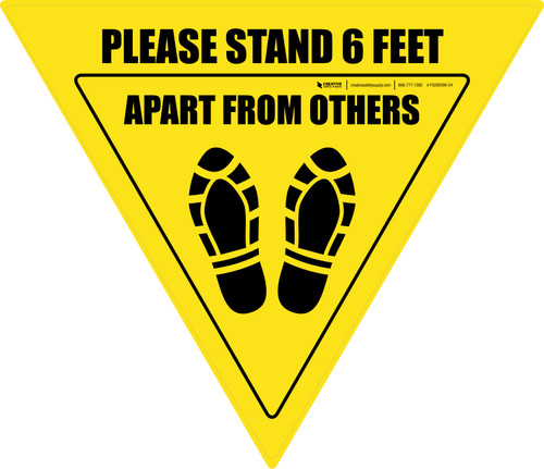 Please Stand 6 Feet Apart From Others Shoe Prints Yield