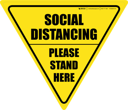 Social Distancing Please Stand Here Yield - Floor Sign