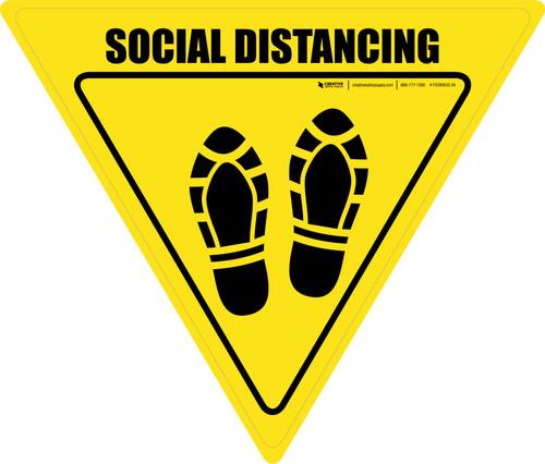 Social Distancing Shoe Prints Yield - Floor Sign