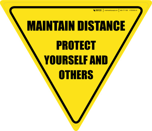Protect Yourself And Others Maintain Distance Yield - Floor Sign