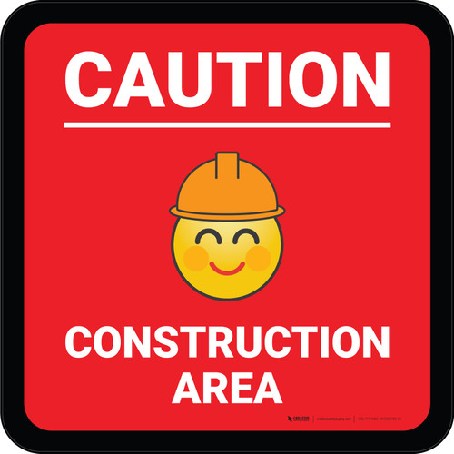 Caution Do Not Touch with Emoji Square - Floor Sign
