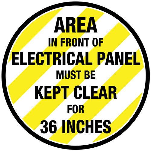 Elec. Panel - 36 Inches Sign
