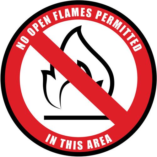 No Open Flames Sign