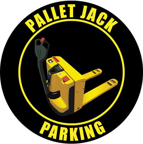 Pallet Jack Parking Elec.- Sign (Black)