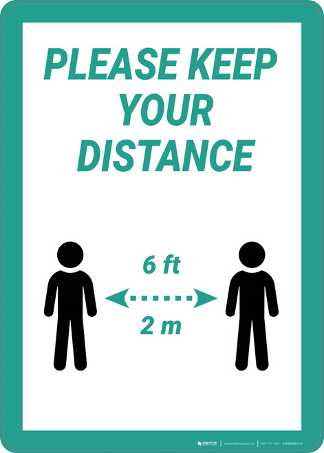 Please Keep Your Distance - Wall Sign