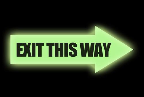 Glow: Exit Arrow Sign
