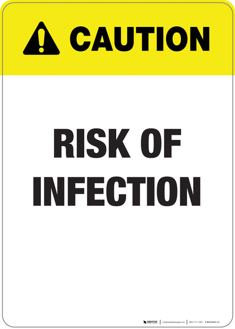Caution: Risk Of Infection - Wall Sign