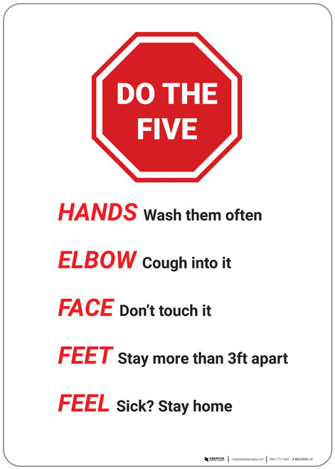 Do The Five Stop Sign Graphic - Wall Sign