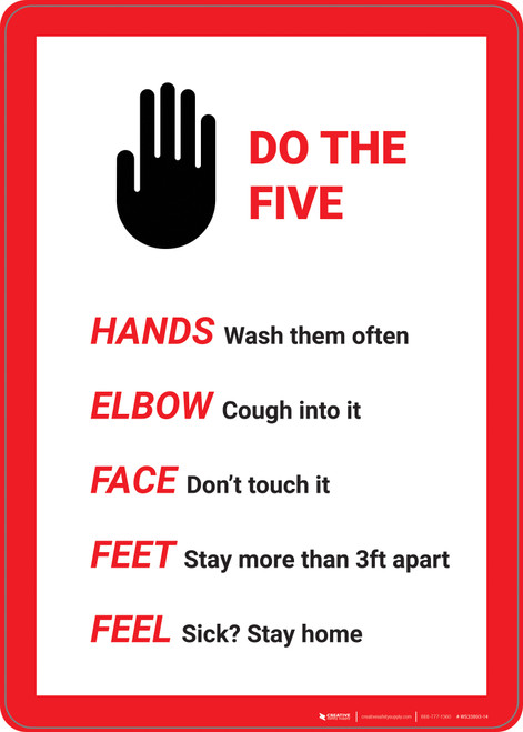 Do The Five Hand Graphic - Wall Sign