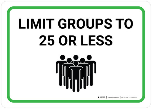 Limit Groups To 25 Or Less with Icon Landscape - Wall Sign