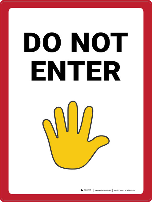 Do Not Enter with Emoji Portrait - Wall Sign