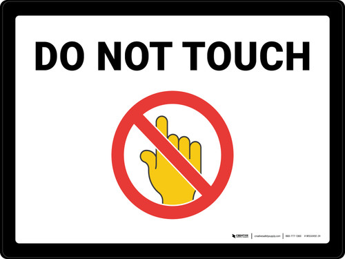 Do Not Touch with Emoji Landscape - Wall Sign