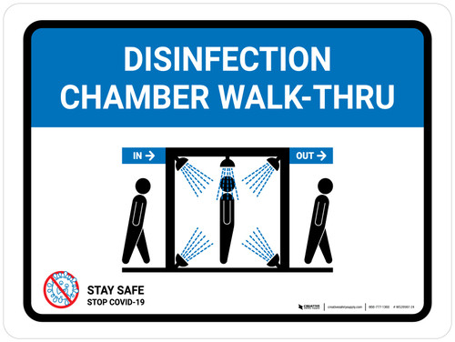 Disinfection Chamber Walk-Thru with Icon Landscape - Wall Sign