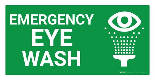 Emergency Eye Wash Sign (Wall)