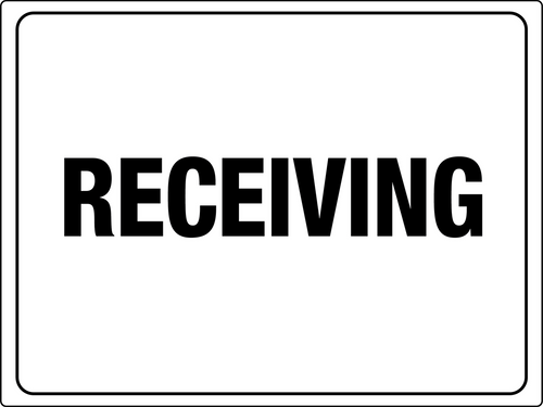 Receiving Area Signs