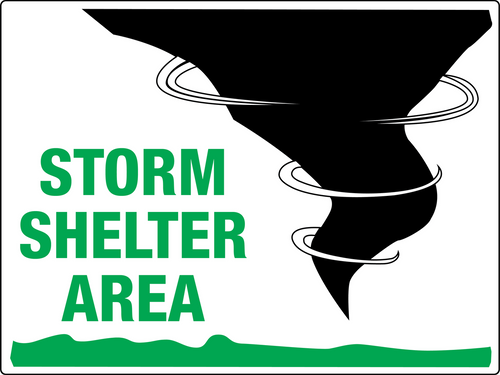 Storm Shelter Area Sign