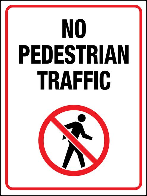 No Pedestrian Traffic Person Sign