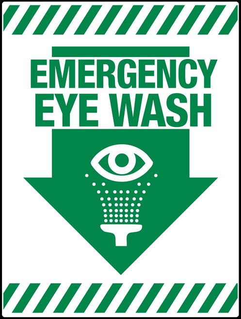 Emergency Eye Wash Wall sign