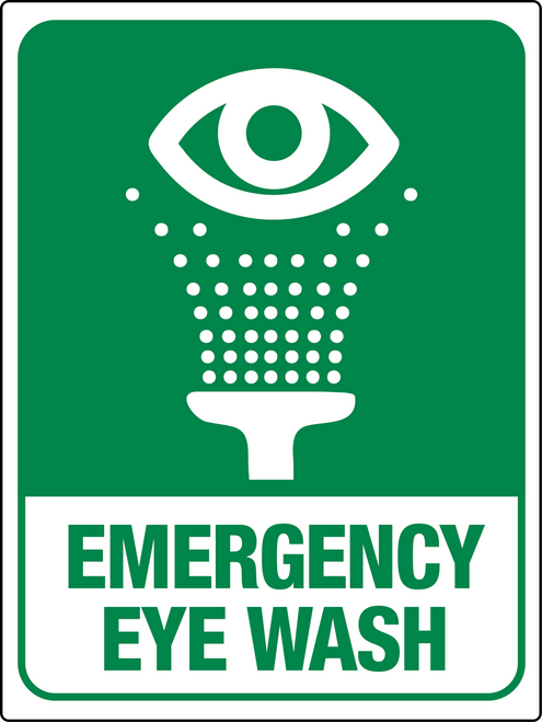 Emergency Eye Wash Station Wall Sign