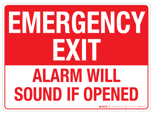 EMERGENCY EXIT Wall Sign