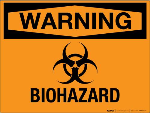 Warning: Biohazard - Wall Sign