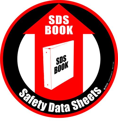 SDS Book Floor Sign