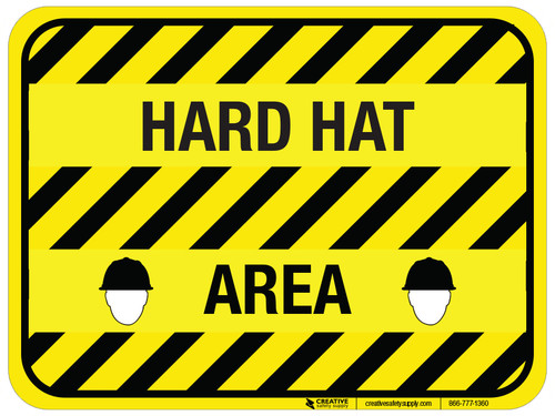 Hard Hat Area - Floor Sign