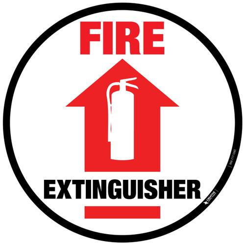 Fire Extinguisher - Floor Sign