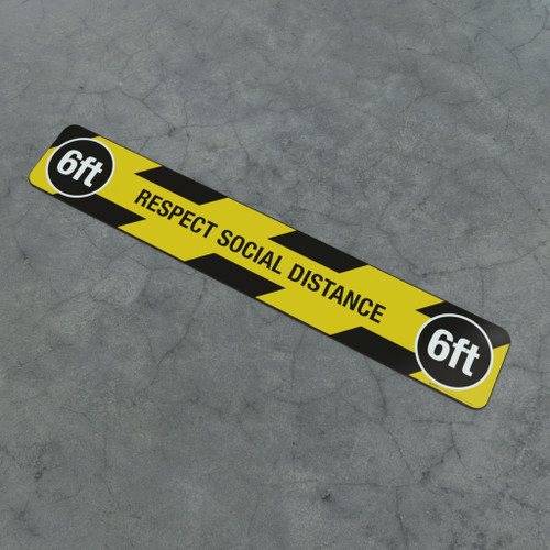 Respect Social Distance 6Ft - Social Distancing Strip