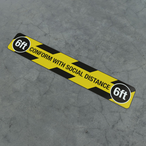 Conform With Social Distance 6Ft - Social Distancing Strip