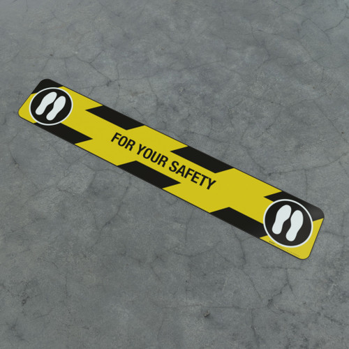 For Your Safety Feet - Social Distancing Strip