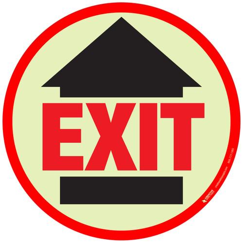 Glow: Exit Floor Sign