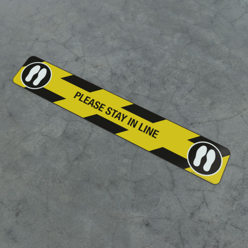 Please Stay In Line Feet - Social Distancing Strip