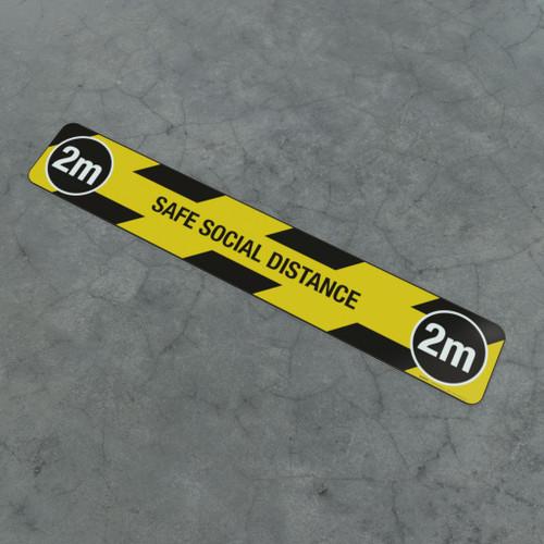 Safe Social Distance 2M - Social Distancing Strip