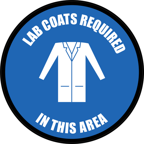 Lab Coats Required in This Area Floor Sign