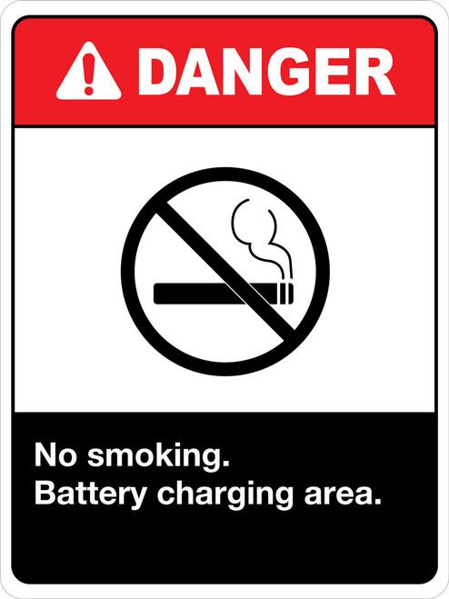 Danger No Smoking Battery Charging Area